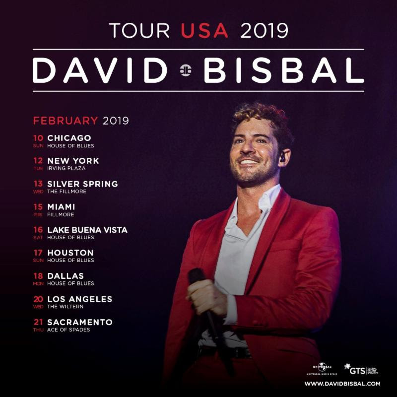 David Bisbal regresa en Tour a Estados Unidos
