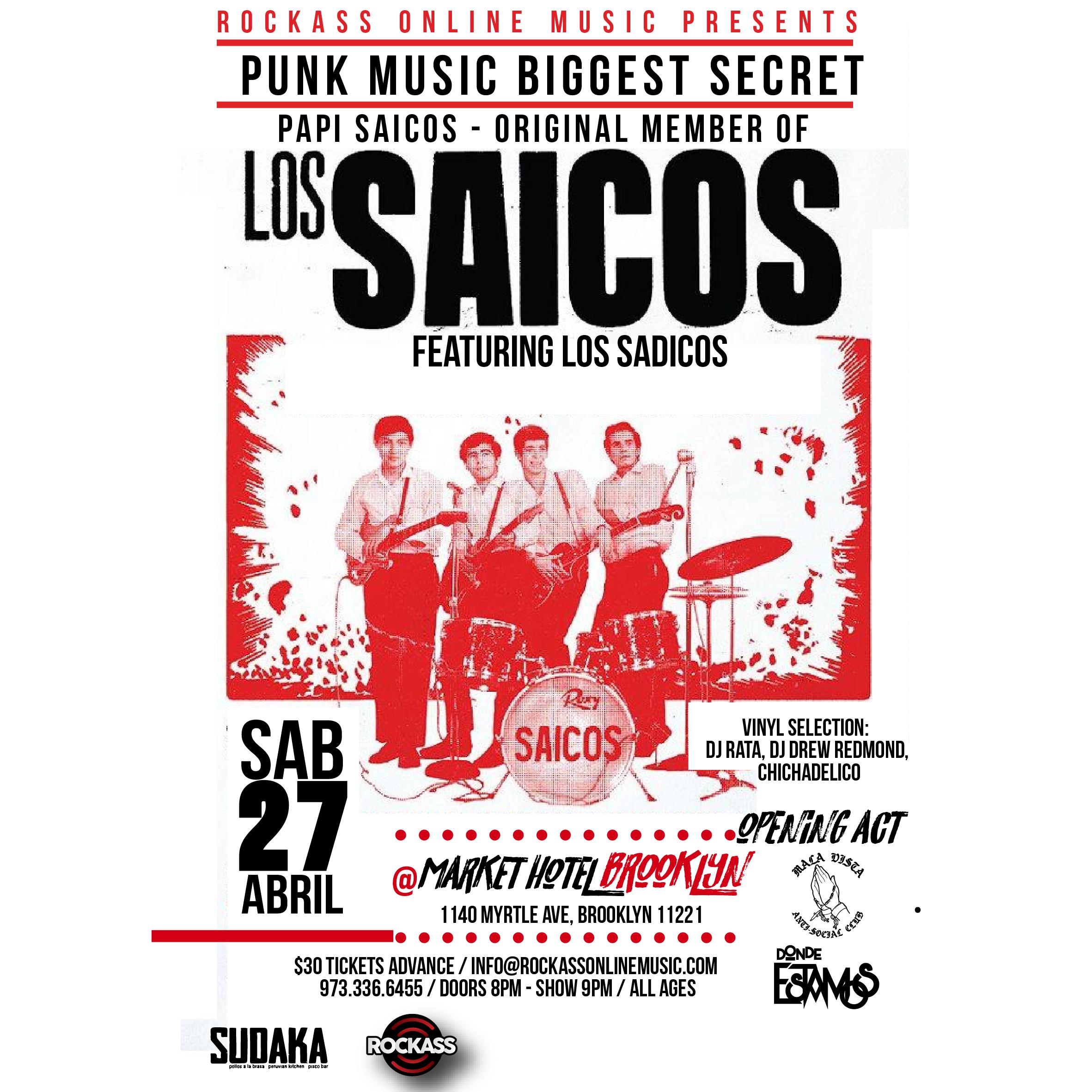 Punk Leyend Papi Saicos en concierto en Brooklyn