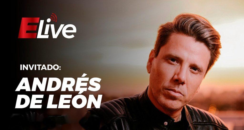 """Andrés de León en Elive  """"25 años de baladas y rock"""""""