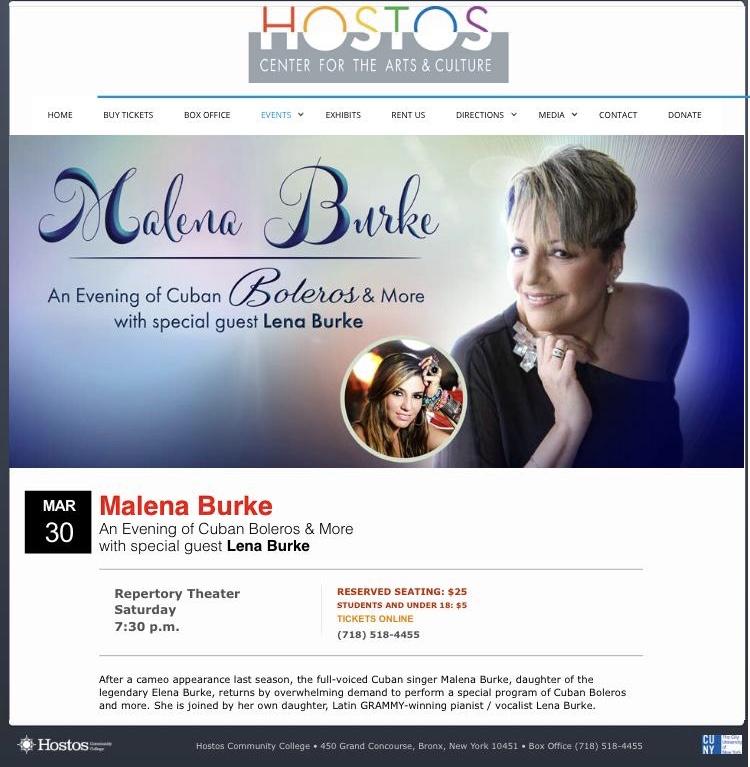 Malena Burke y Lena en concierto