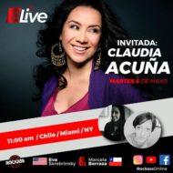 Entrevista con Claudia Acuña en vivo