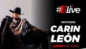 """Carin León en Elive:  Pasó la cuarentena """"encerrado pero enfiestado"""""""